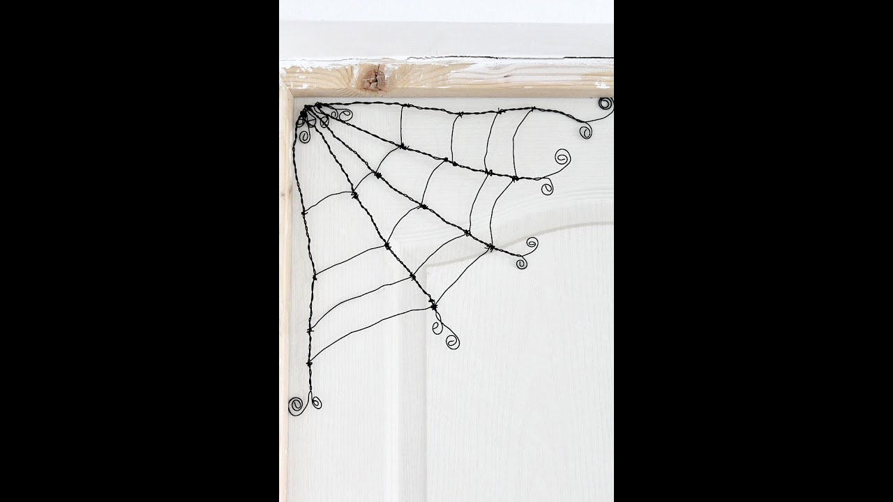 How to make a wire spider web tutorial - YouTube