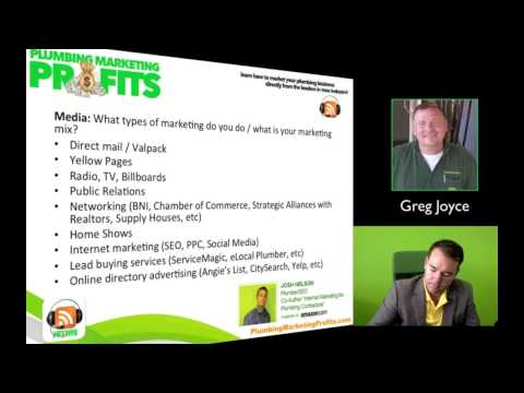 Plumbing Marketing Interview - How Greg grew to $2.8 Million and is up 30% this year!
