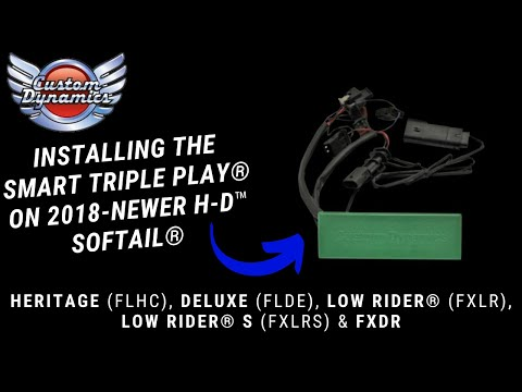 How To Install Softail SMART Triple Play® for 2018-Newer Heritage Classic, Deluxe, Low Rider & FXDR