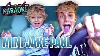 CARPOOL KARAOKE with MINI JAKE PAUL!!
