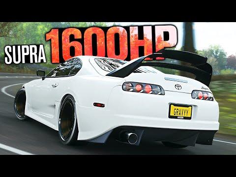 Forza Horizon 4 - 1601HP Toyota Supra CUSTOMIZATION!