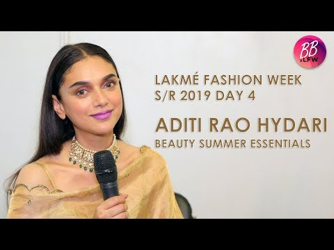 Aditi Rao Hydari Shares Her Summer Beauty Essentials At Lakme Fashion Week S/R 2019. Mp3