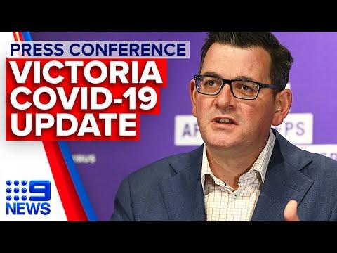 Coronavirus: Victoria Premier announces 484 new cases | 9 News Australia