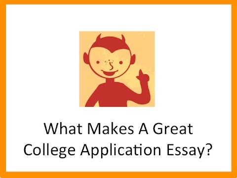What Makes A Great College Application Essay  Youtube