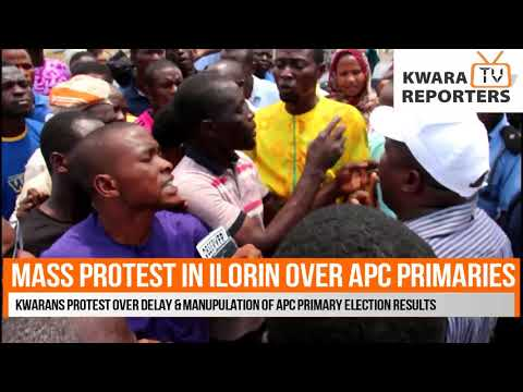 BREAKING: Protest Ongoing At Kwara APC Collation Center