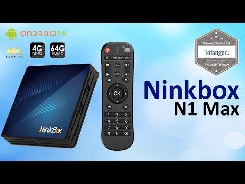 Ninkbox N1 Max - OTT TV Box - Ninkbox Android TV Box - Android 9 - 4GB Ram 64 GB Stockage