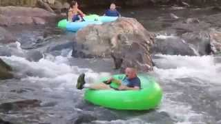 Tubing with the Cool River Tubing Company in Helen, Ga.