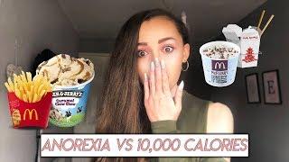 Anorexia Vs 10,000 calories (10k Calories Challenge)