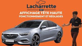Comment fonctionne l'affichage tête haute de l'Opel Insignia ?