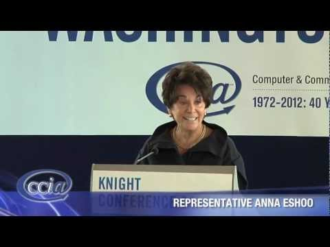 Representative Anna Eshoo CCIA Washington Caucus 2012