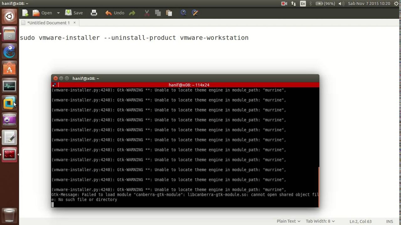 How to uninstall VMware Workstation from ubuntu