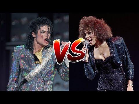 Michael Jackson Vs. Whitney Houston (Record Sales, Live Performances/ Vocals, Top Hits)