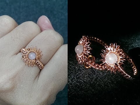 Sun ring adjustable size - DIY wire jewelry - Handmade Jewelry Ideas 272