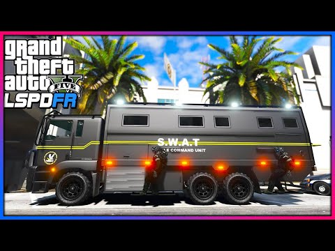 GTA 5 Mods - Futuristic SWAT Answers Routine Calls!! (LSPDFR Gameplay) thumbnail