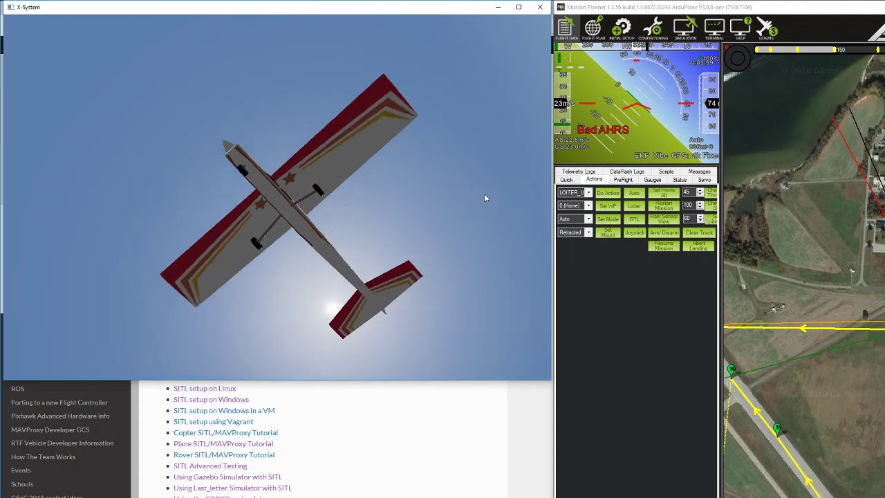 Flying SITL with x-plane 10 and mission planner