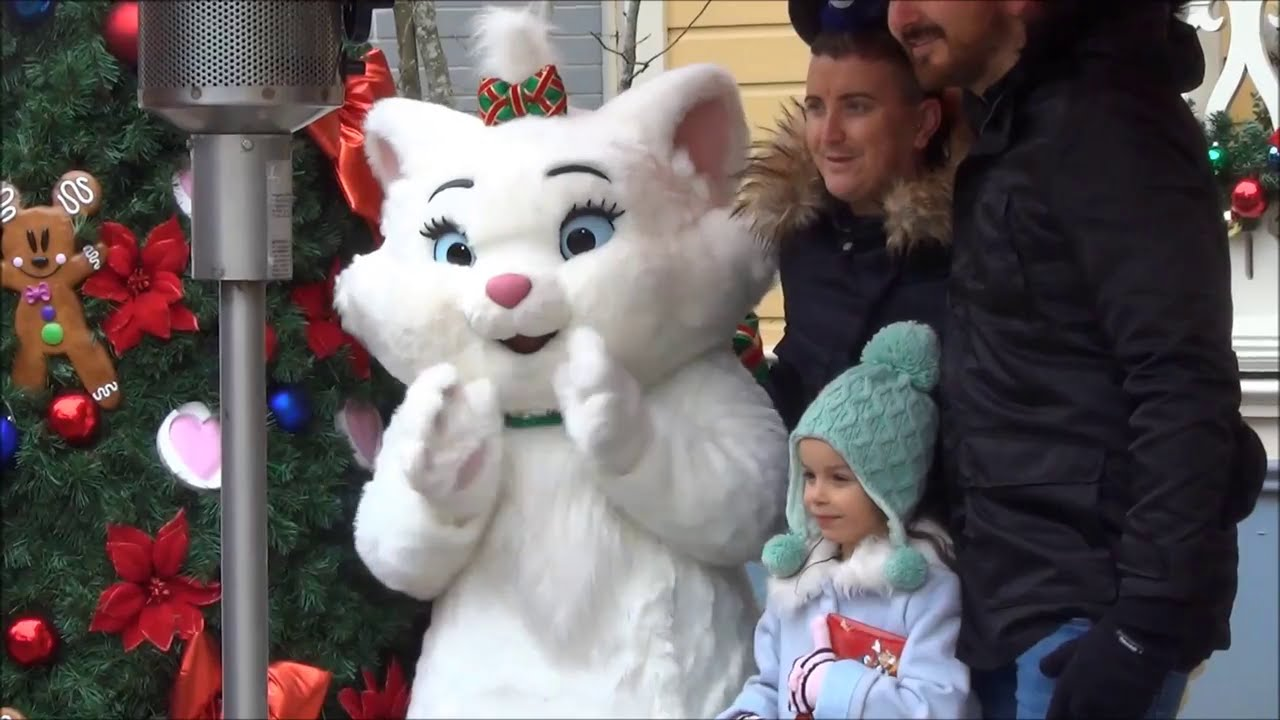 Disney characters meet and greet christmas disneyland paris youtube m4hsunfo