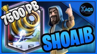 🔷GIANT SPARKY GOD = SHOAIB with his SIGNATURE LADDER DECK!!! / 7500 PB 🔷CLASH ROYALE🔷