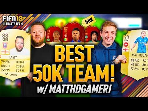 BEST 50K FUT CHAMPIONS TEAM w/ MATTHDGAMER!
