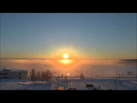 December 21, 2012 Winter Solstice in Fairbanks, Alaska. Timelapse (HD)