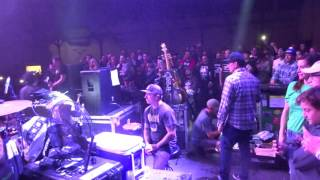 They walk on stage with Roger from Less Than Jake with view from Sm...