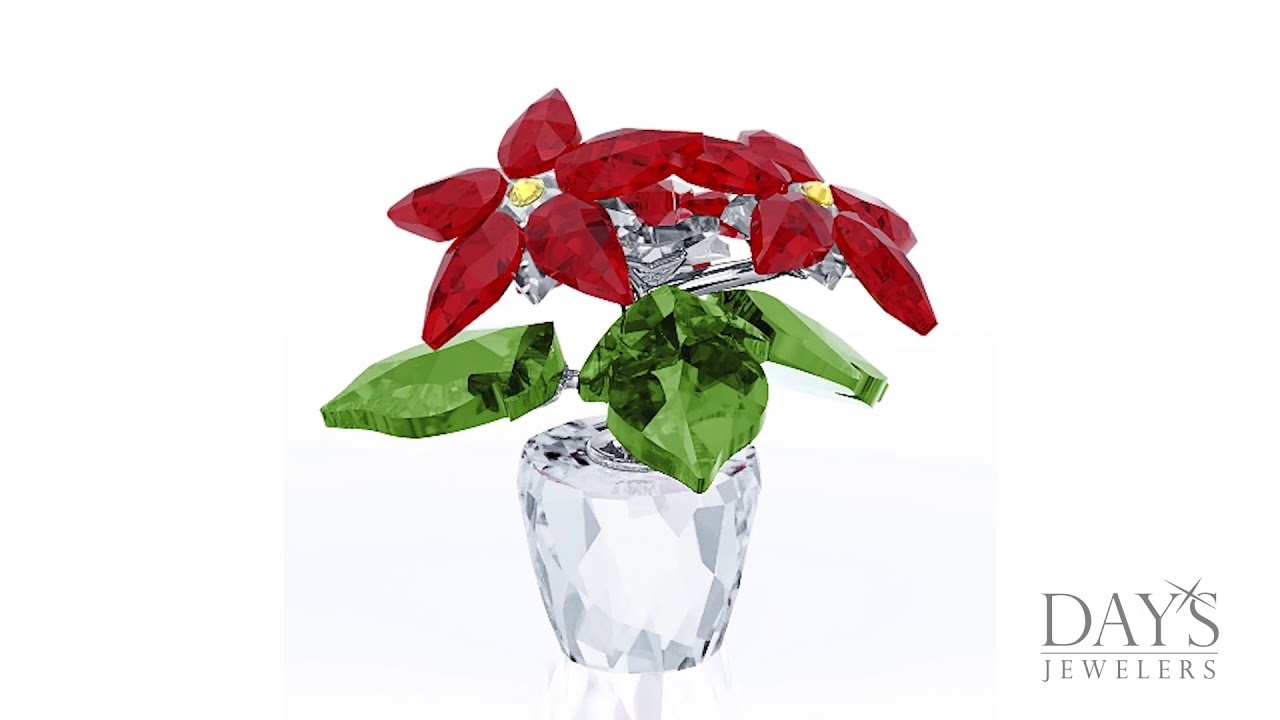 e4fe3ba43 Swarovski Crystal Small Poinsettia - YouTube