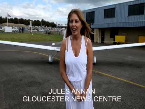 Carol Vorderman takes the ALS Ice Bucket Challenge @ Gloucestershire Airport