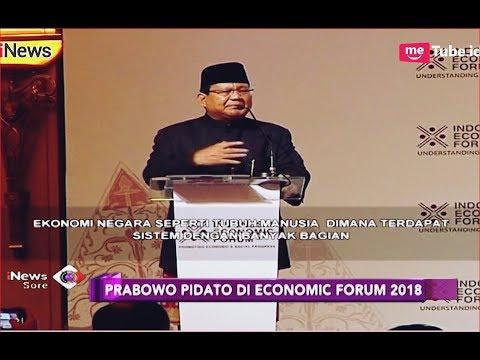 Hadiri Economic Forum, Prabowo Pidato Pakai Bahasa Inggris - iNews Sore 21/11