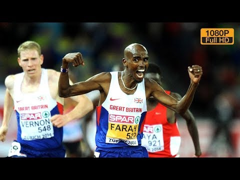 Mo Farah wins 10000m European Champ Zurich 2014 [FULL HD, RU]