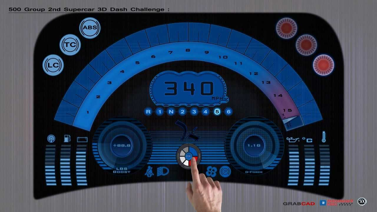 Dashboard Animation An Entrie For Group Supercar Dash