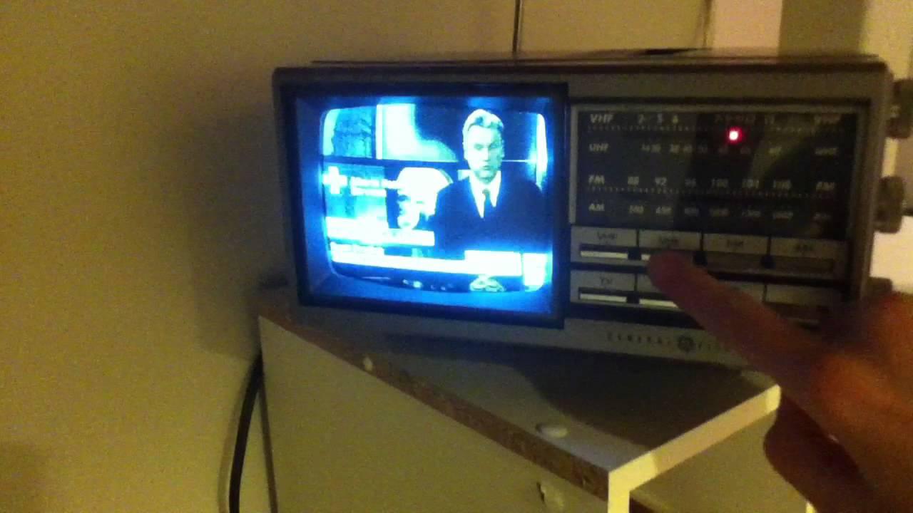 vintage general electric ge portable televisionradio