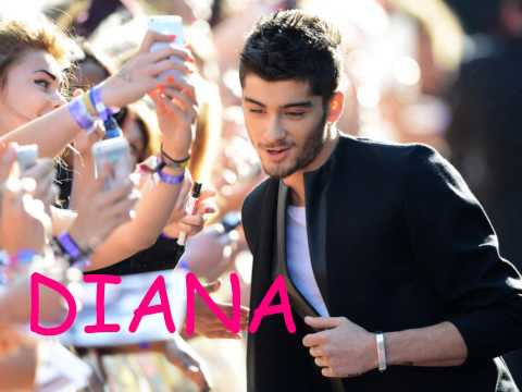 One Direction - Diana (pictures + lyrics)