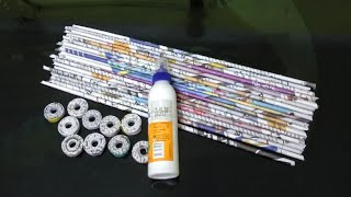 2 DIY NEWSPAPER CRAFT/BEST OUT OF WASTE