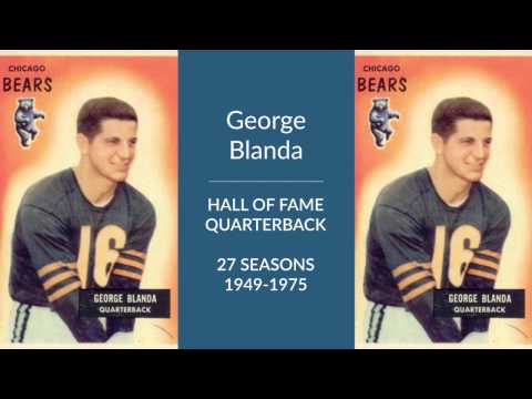 George Blanda Hall of Fame Football Quarterback and Kicker