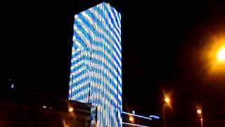 Необычный небоскрёб в Питере(В Питере появился небоскреб с 3D эффектами., 2013-04-26T16:10:35.000Z)