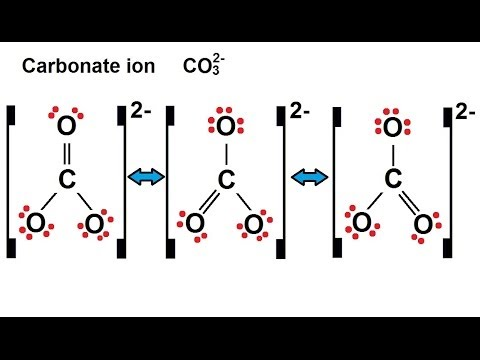 Lewis Dot Structure of Co3 2- Carbonate Ion