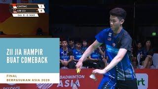 Berpasukan Asia 2020 : Zii Jia Tunduk Kepada Ginting | Astro Arena