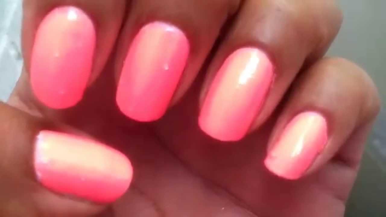 Mani monday! Neon nails Bikini by Julie G - YouTube