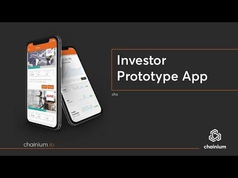 Chainium - Screen recording of Investor Prototype App