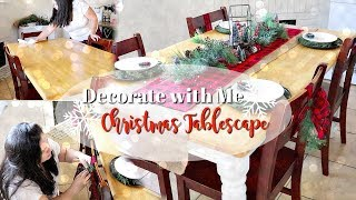 Decorate with Me! || Christmas Tablescape