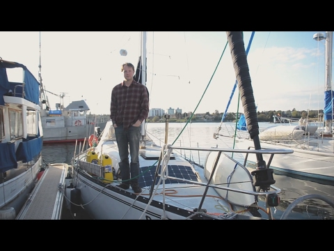 Off grid Sailboat Liveaboard tour. making the most out of small spaces.