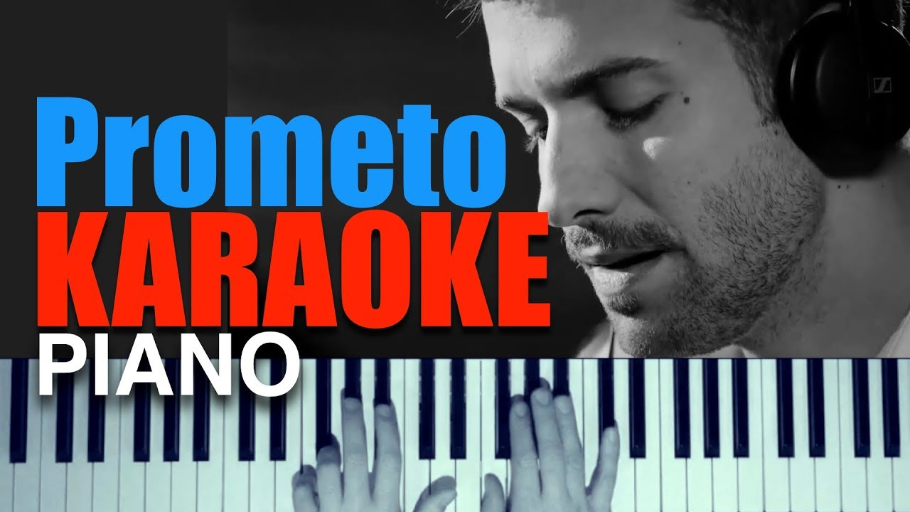 Pablo Alborán Prometo Piano Karaoke Partitura Acoustic Youtube