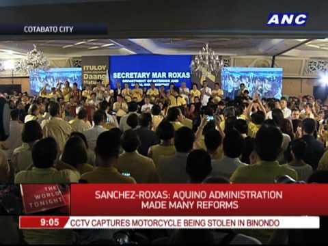 Korina Sanchez-Roxas represents husband in Maguindanao event