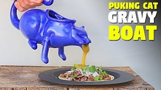 Weirdest Way To Pour Sauce On Your Food!