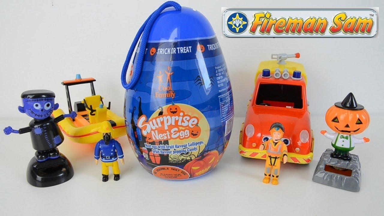 Fireman sam Surprise Egg Halloween Fireman Sam Toys