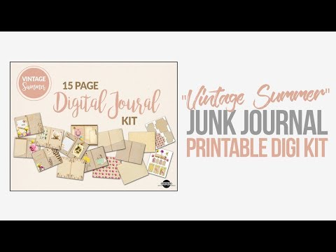 Vintage Summer Printable Junk Journal Kit