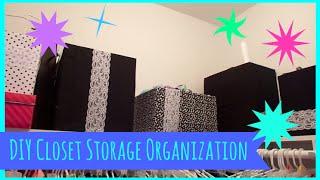 DIY Closet Storage Organization Thumbnail