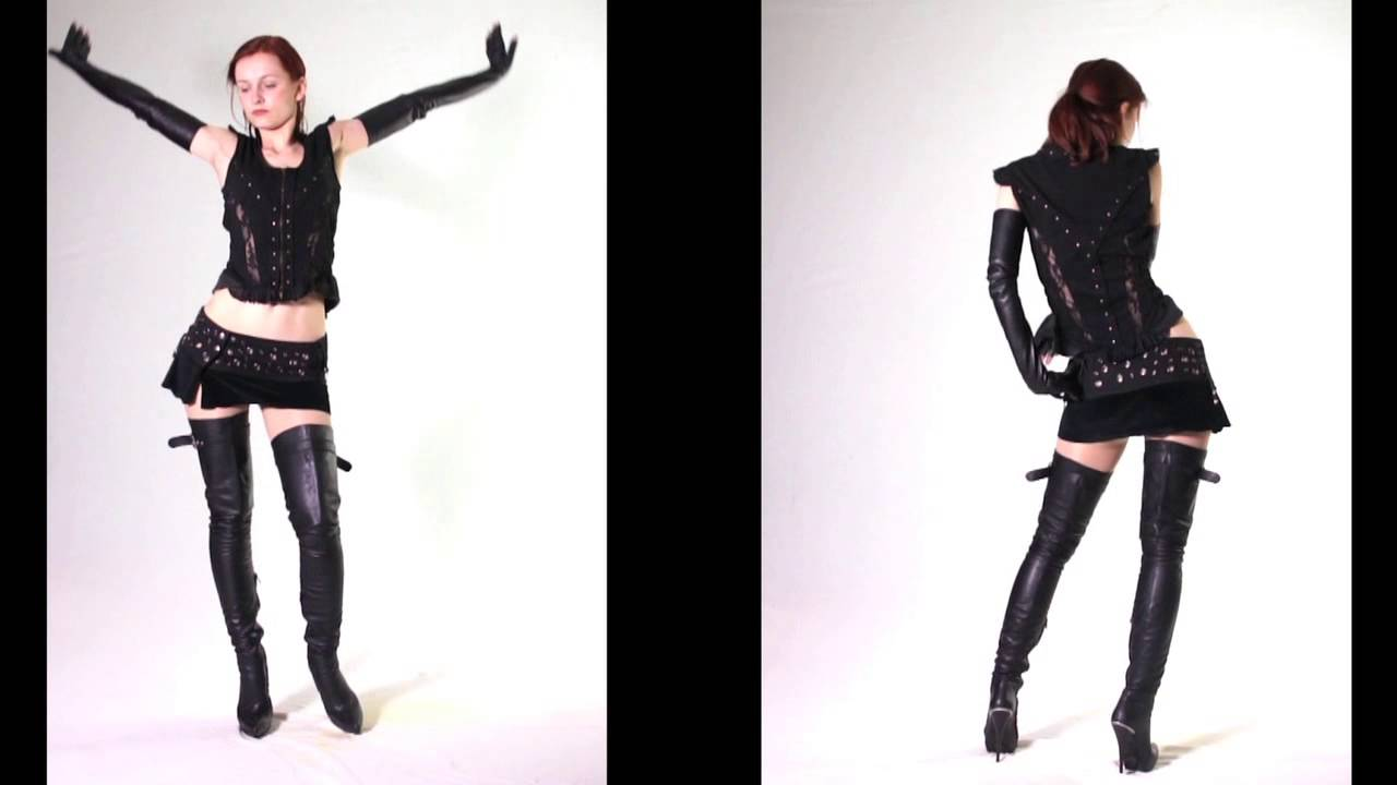 Thigh High Boots and Long Gloves - YouTube