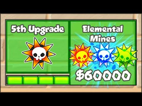 5TH TIER UPGRADES MOD - ELEMENTAL MINES SPIKE FACTORY | Bloons TD Battles Hack/Mod (BTD Battles)