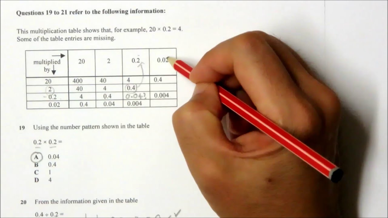 NSW Selective School Sample Test Papers - Mathematics 2 - YouTube