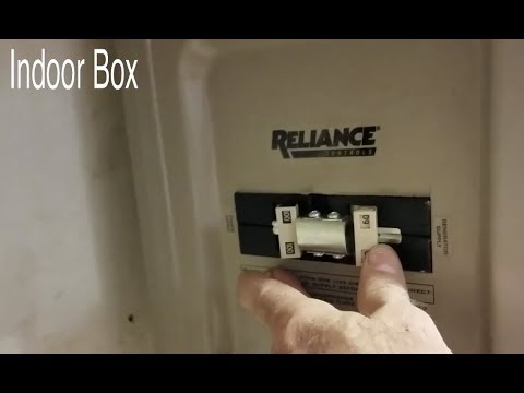 Generator Transfer switch to small cabin Reliance - YouTube